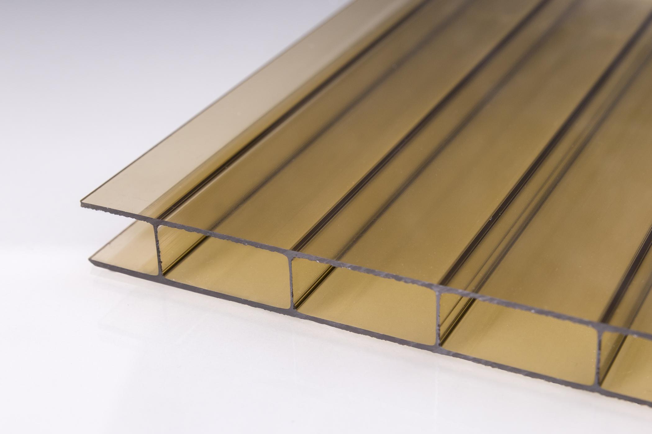 m ller kunststoffe 16 mm stegplatten aus acrylglas 16 32 bronze online kaufen. Black Bedroom Furniture Sets. Home Design Ideas